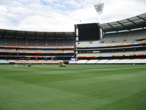 The pitch of the Melbourne Cricket Grounds.