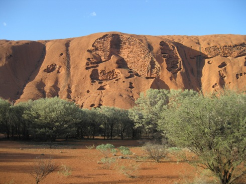 I walked around the entire base of Uluru - about 5.5 miles. Imcredible colors.