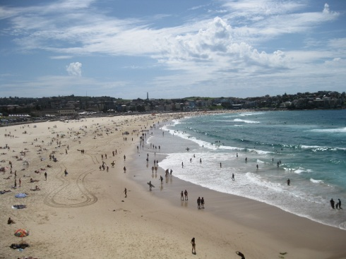 Famous Bondi Beach. I think half of Sydney was there since it was such a nice summer Sunday.