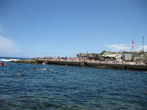 The saltwater pool at Clovelly Beach where I submersed myself for a while.