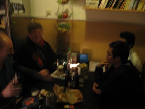 Beer tasting with friends at my Bamberg crash pad.