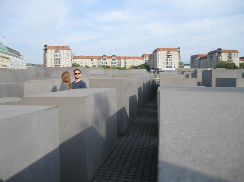 The Holocaust memorial was interesting, built recently not far from the Brandenburg Gate.