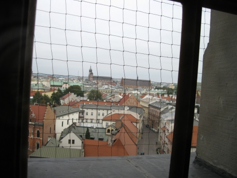 View looking out over the Old Town from inside the castle.