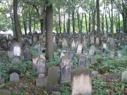 An dilapidated cemetery near the old Jewish quarter.