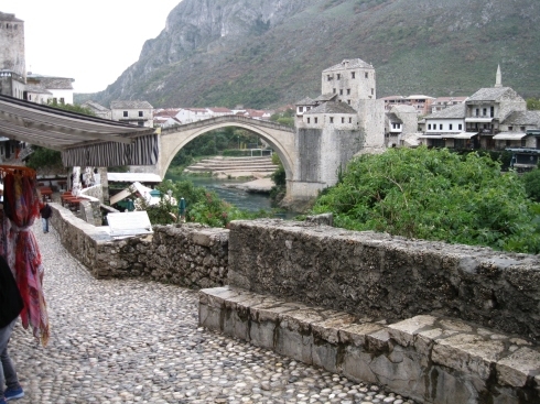 The Stari Most, or old bridge.