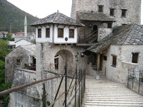 Part of old town Mostar.