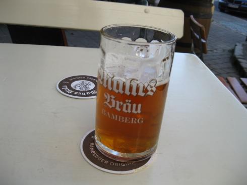 "Yummy half-litre at Marh's Brau. ""The U."""