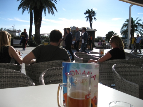 My view while enjoying a drink in the promenade, watching the tourists and Splitizens go by.