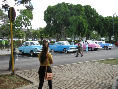 The classic cars were everywhere in Havana.