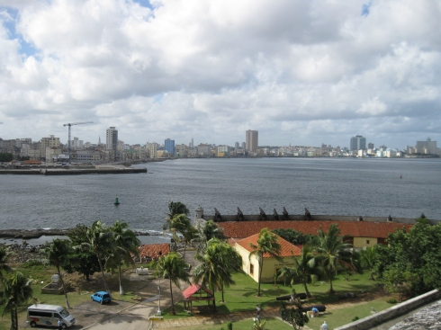 View of Old Havana and Vedado from across the bay.