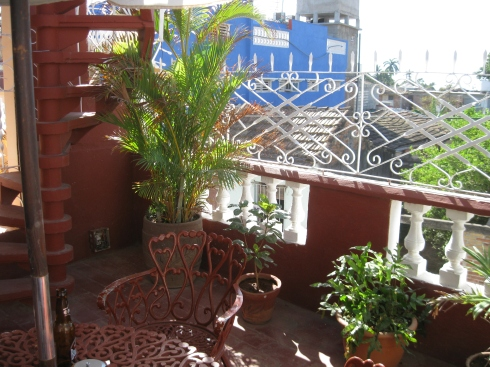 One of the terraces of my casa in Trinidad.