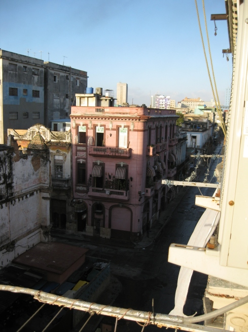 The view from the balcony of my room in Havana.