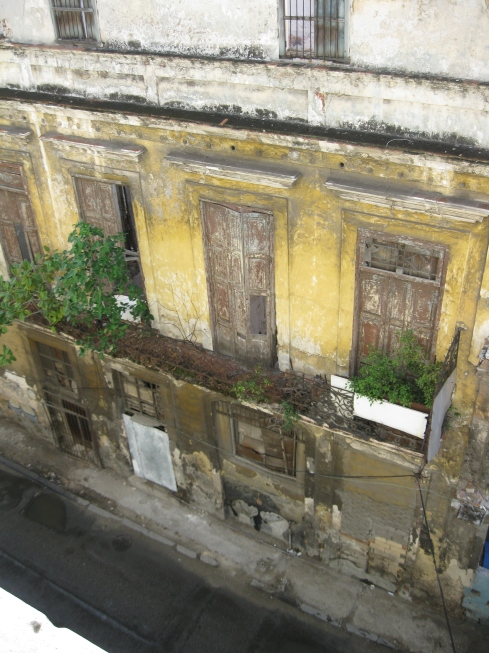 You know a building has been maintained when trees are growing out of it. This is just across from our casa in Havana.